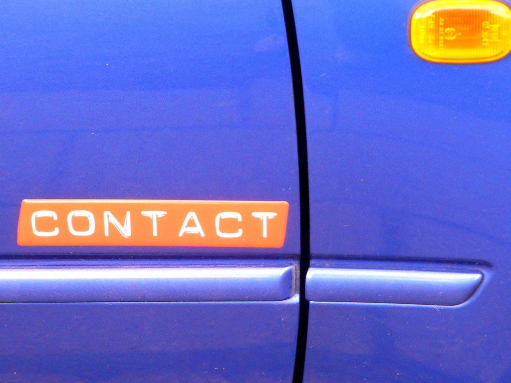 Contact by Christer (CC BY-NC-ND 2.0) https://flic.kr/p/9EiZN3