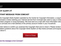 comcast_six_strikes_alert by aaron_anderer (CC BY-ND 2.0) https://flic.kr/p/dYokuc