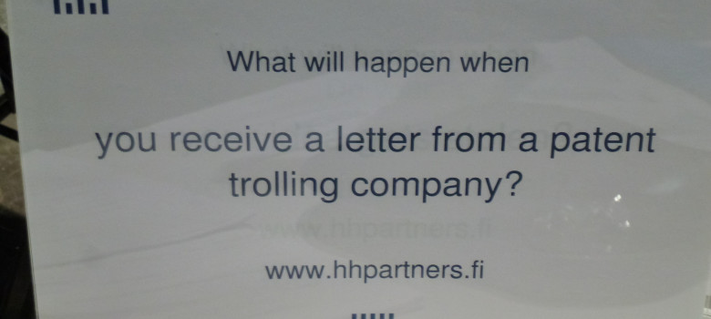Patent Trolling by Ton Zijlstra (CC BY-NC-SA 2.0) https://flic.kr/p/djcCbF