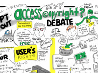 Should Universities Opt Out of Access Copyright? @HowardKnopf @RoanieLevy Debate by Giulia Forsythe (CC BY-NC-SA 2.0) https://flic.kr/p/nvbkJN