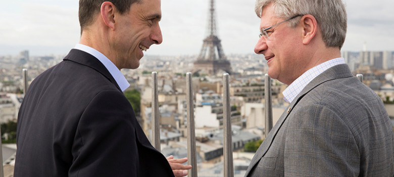 PM Harper visits the Arc de Triomphe with Steven Blaney by Stephen Harper (CC BY-NC-ND 2.0)  https://flic.kr/p/eNh192