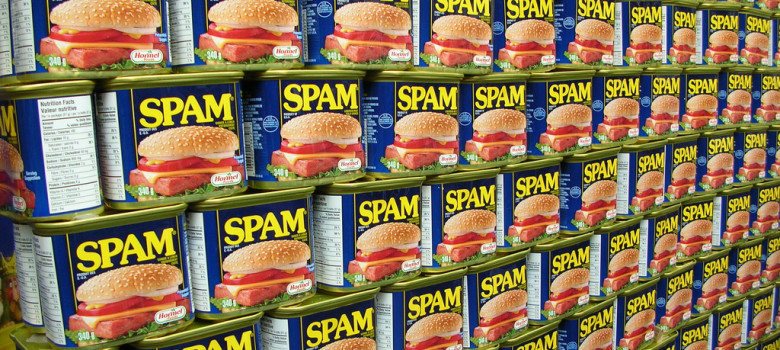 Spam wall by freezelight (CC BY-SA 2.0) https://flic.kr/p/eKfYX