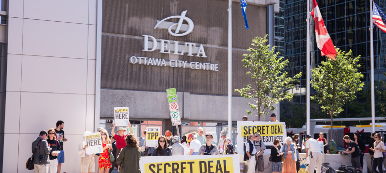 TPP rally. Ottawa, Canada, June 10 2014 by SumOfUs (CC BY 2.0) https://flic.kr/p/oo3n2U