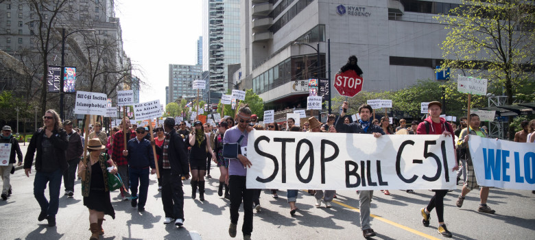 Protest against Bill C-51 - April 18, 2015 - Vancouver BC, Canada by Sally T. Buck (CC BY-NC-ND 2.0) https://flic.kr/p/sdxnaW