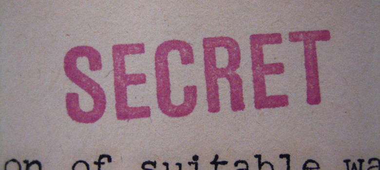 """SECRET"" stamp by Alex Wellerstein (CC BY 2.0) https://flic.kr/p/aCJZrf"