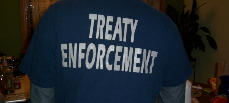 treaty enforcement by Sarah Deer (CC BY 2.0) https://flic.kr/p/4AfLUo