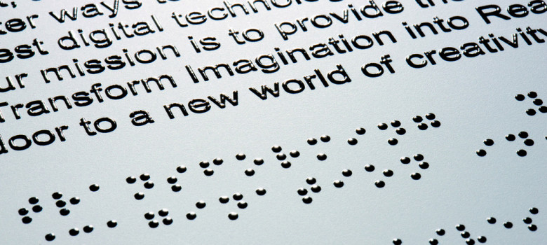 Braille by Roland DG Mid Europe Italia (CC BY 2.0) https://flic.kr/p/8wYdZy