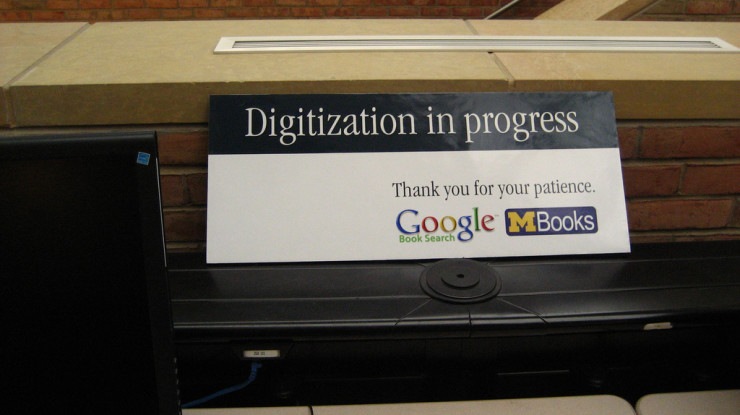 google book search notification at Art & Architecture library, Duderstadt Center by Timothy Vollmer (CC BY 2.0) https://flic.kr/p/42Ls8i