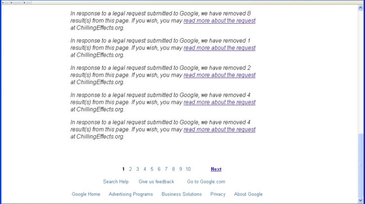 Google Internet Censorship by Dr Les (Leszek - Leslie) Sachs (CC BY 2.0) https://flic.kr/p/ai6w7F