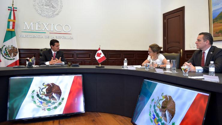 Reunión con la Ministra de Asuntos Exteriores de Canadá, Chrystia Freeland by Presidencia de la República Mexicana (CC BY 2.0) https://flic.kr/p/UU5Fdp