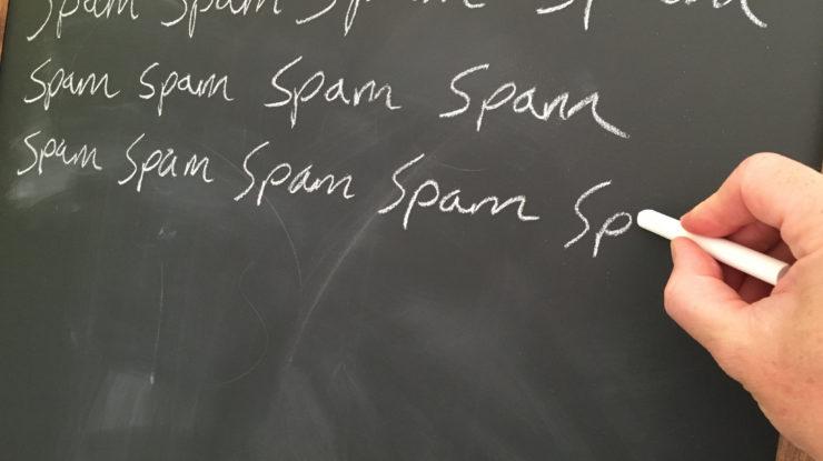 Spam Spam Spam Spam Spam Spam Spam Spam with Hand by Jeff Djevdet speedpropertybuyers.co.uk/ (CC BY 2.0) https://flic.kr/p/JxUtGa