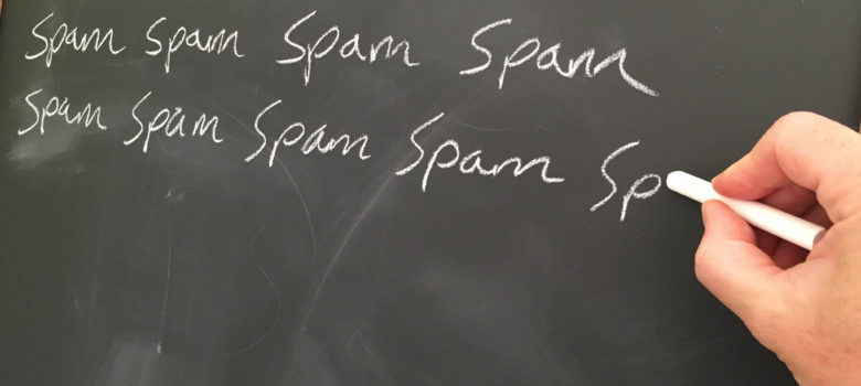 Spam Spam Spam Spam Spam Spam Spam Spam with Hand by Jeff Djevdet speedpropertybuyers.co.uk/ (CC BY 2.0) https://flic.kr/p/JxUtGa