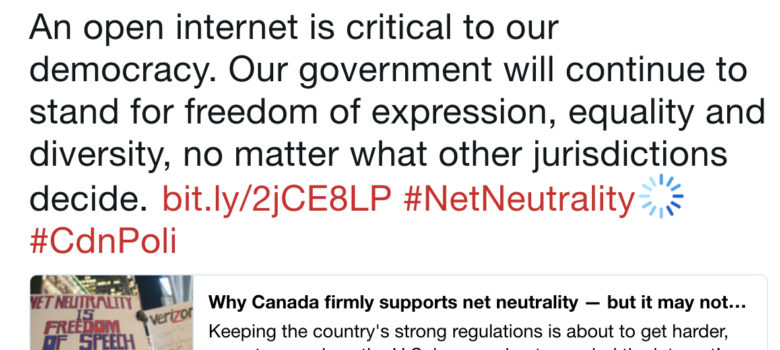As the U S  Retreats, Canada Doubles Down on Net Neutrality