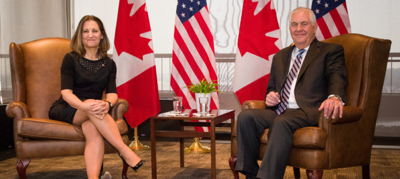 Secretary Tillerson Meets With Canadian Foreign Minister Freeland in Ottawa by US Department of State https://flic.kr/p/21AkuS7 US Government Work