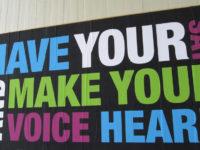 Speak up, make your voice heard by Howard Lake (CC BY-SA 2.0) https://flic.kr/p/9rAjRN