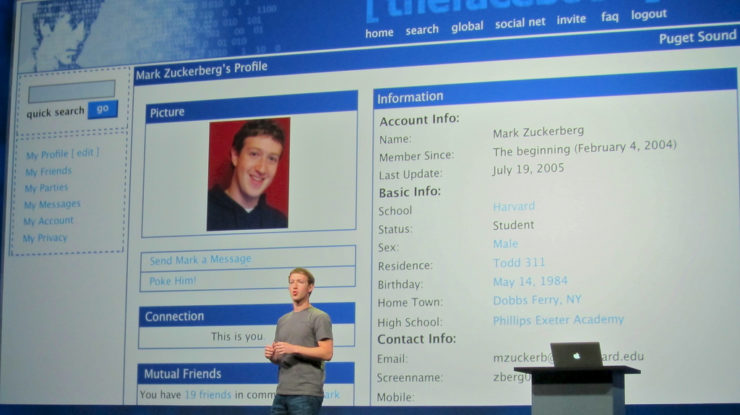 Mark Zuckerberg's original Facebook profile by Niall Kennedy (CC BY-NC 2.0) https://flic.kr/p/apNav2