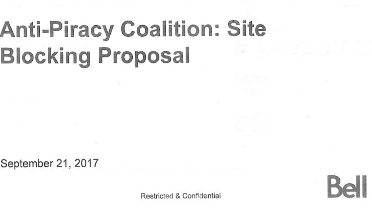 Bell presentation to CRTC, September 21, 2017, obtained under ATIP