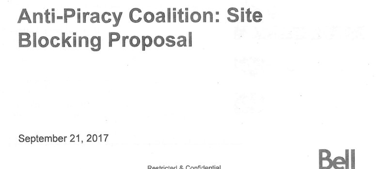 Bell presentation to CRTC, September 21, 2017, obtained under ATIP