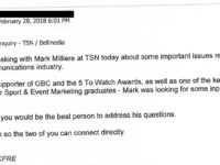 Fenton email to Sado, obtained under FIPPA
