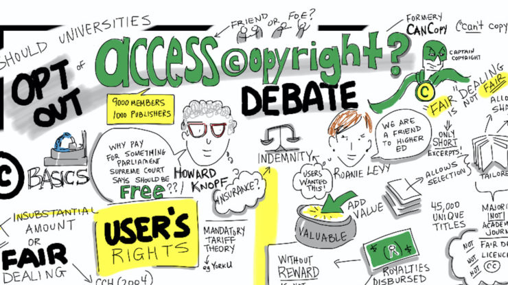Should Universities Opt Out of Access Copyright? @HowardKnopf @RoanieLevy Debate #congressh #caljacrs14 by Giulia Forsythe https://flic.kr/p/nvbkJN (CC0 1.0)