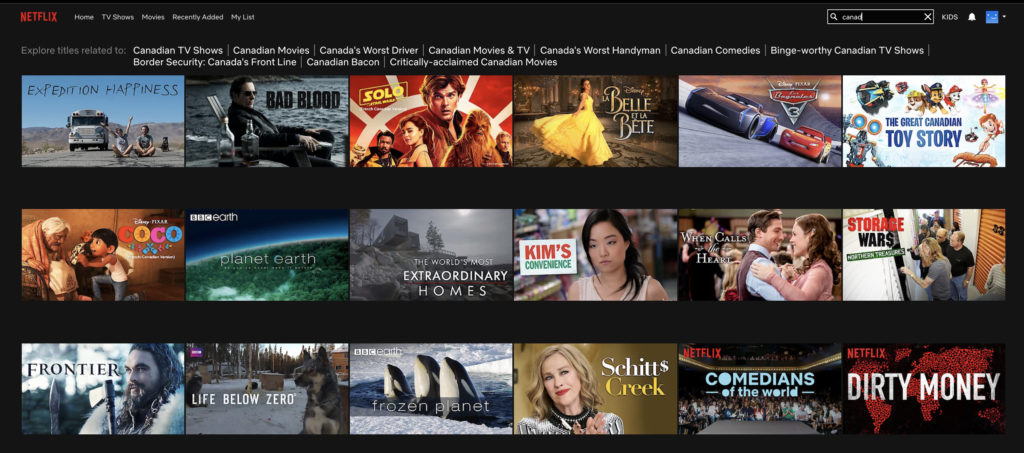 Hidden in Plain Sight?: The Search For Canadian Content on Netflix