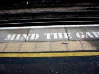 Mind the gap by Kristian Dye (CC BY 2.0) https://flic.kr/p/5JAk2X