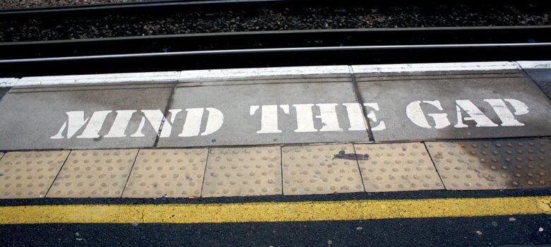 Mind the gap by Kristian Dye (CC BY 2.0) https://flic.kr/p/5JAk2X