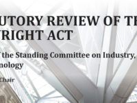 Statutory Review of the Copyright Act cover page, https://www.ourcommons.ca/Content/Committee/421/INDU/Reports/RP10537003/indurp16/indurp16-e.pdf
