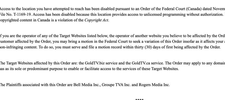 GoldTV.biz block