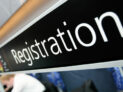 Registration desk sign by NHS Confederation (CC BY 2.0) https://flic.kr/p/9YxwXp